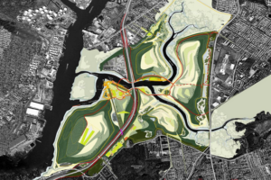 Ariel Illustration of Fresh Kills Park
